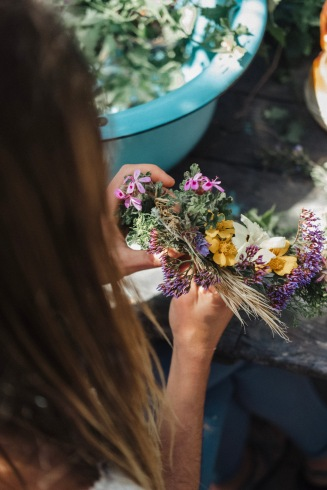 Flower crown creations